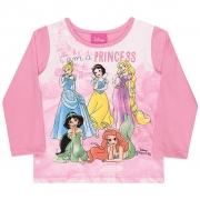 Camiseta Meia Malha Princesas Disney