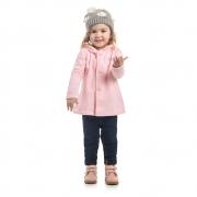 Casaco Soft Infantil com Capuz e Botões