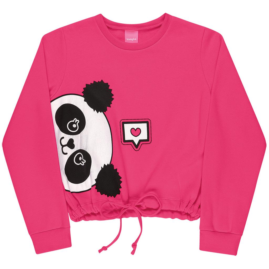 Blusão Moletom Penteado Panda