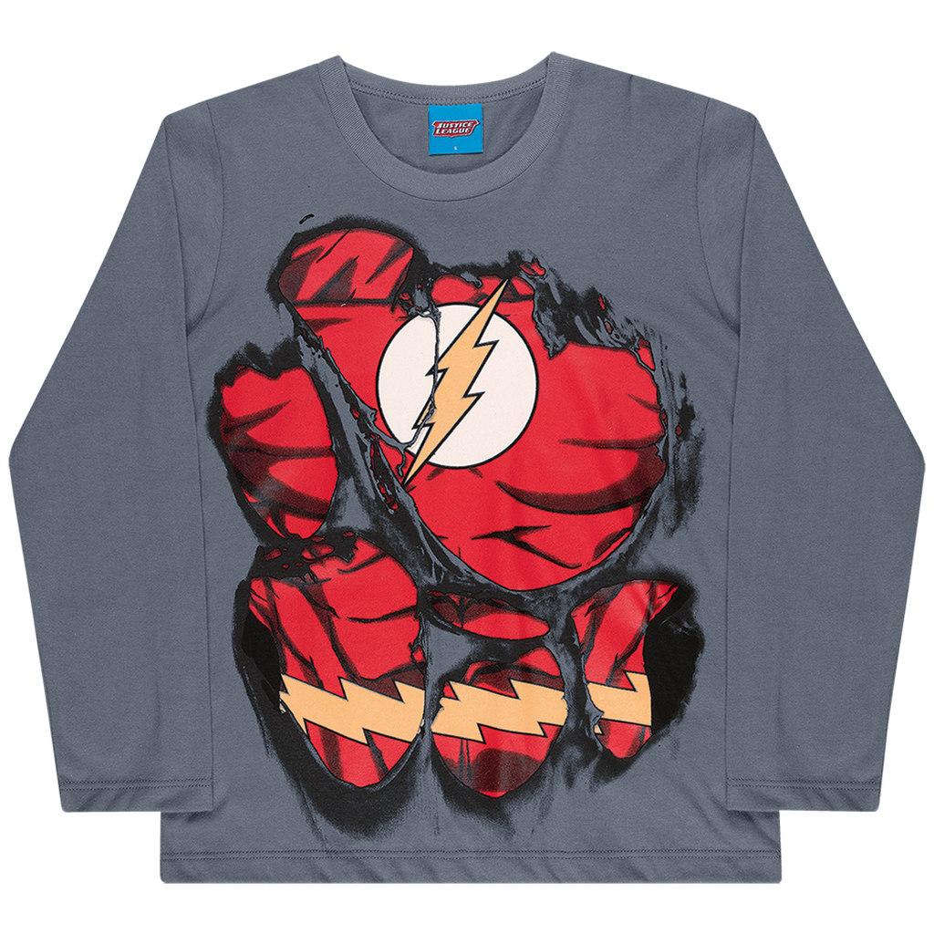 Camiseta Manga Longa Liga da Justiça