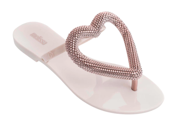 Chinelo MELISSA BIG HEART CHROME