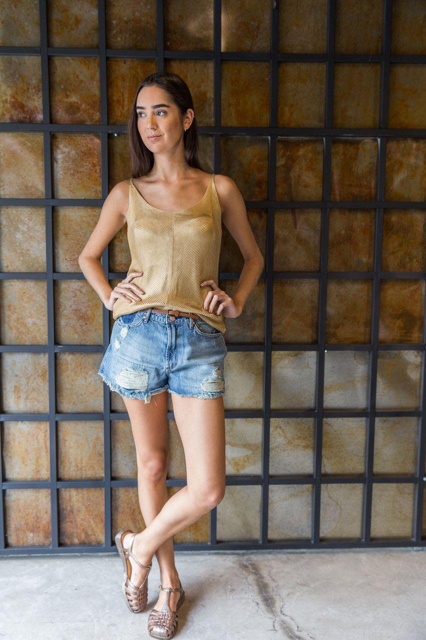 Short Jeans Frente Desfiada