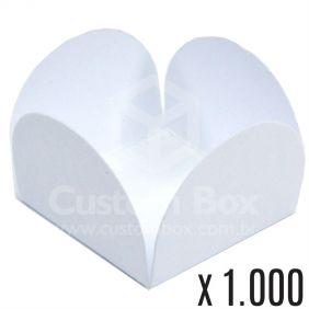 1.000 Forminhas 4 petalas Branca Alaska