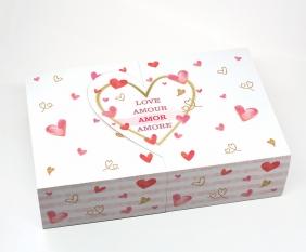 Caixa Deslizante Amore - Coração Aberto c/ 10 un