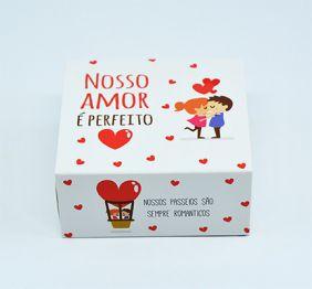 Caixa deslizante para 4 doces Amor Perfeito c/ 10 un