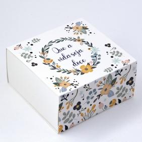 Caixa Deslizante para 4 doces - Flor de Mel C/10un