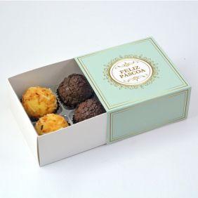 Caixa Deslizante para 4 doces - Páscoa Imperial c/10 un