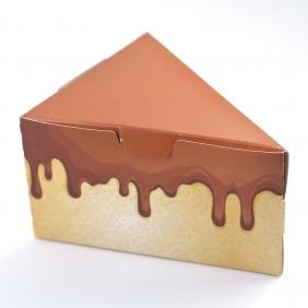 Caixa Fatia de Bolo - Chocolate c/50 un