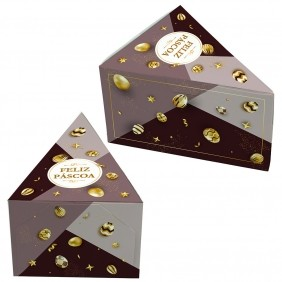Caixa Fatia de Bolo Páscoa Ouro c/50 un