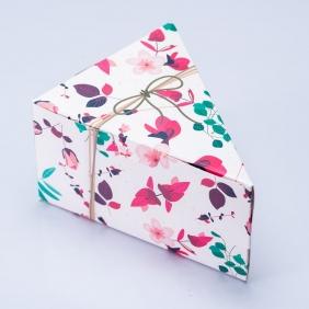 Caixa Fatia de Bolo - Presente Floral c/100 un