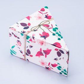 Caixa Fatia de Bolo - Presente Floral c/25 un