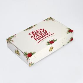Caixa para 15 doces - Natal Clássico C/10 un