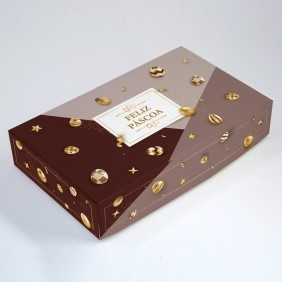 Caixa para 15 doces - Páscoa Ouro C/10 un