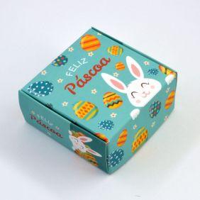 Caixa para 4 doces Páscoa - Coelho Verde c/10 un