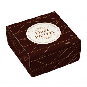 Caixa para 4 doces Páscoa - Luxo c/10 un