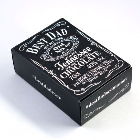 Caixa para 6 doces - Best Dad Whiskey C/10 UN