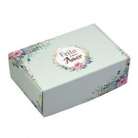 Caixa para 6 doces Floral Verde c/ 10 un