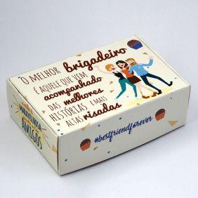 Caixa para 6 doces - Melhores Amigos C/10 UN