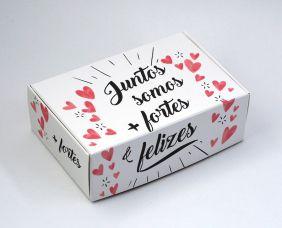 Caixa para 6 doces Namorados - Juntos C/10 UN