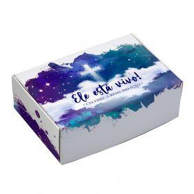 Caixa para 6 doces Páscoa - Sentido da Páscoa C/ 10 UN