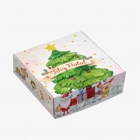 Caixa Para 9 Doces - Natal Alegre C/10un