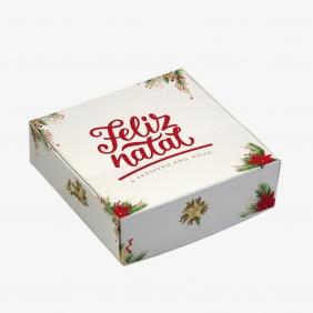 Caixa Para 9 Doces - Natal Clássico C/10un