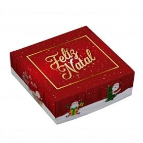 Caixa para 9 doces - Natal Divertido C/10 un