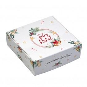 Caixa para 9 doces - Natal Estrela C/10 un