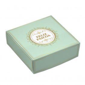 Caixa para 9 doces Páscoa - Imperial c/ 10 un