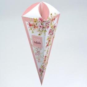 Caixa para Cone Trufado - Floral Rose c/100 un