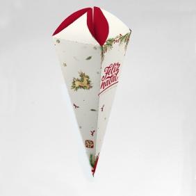 Caixa para Cone Trufado - Natal Clássico c/ 50 un