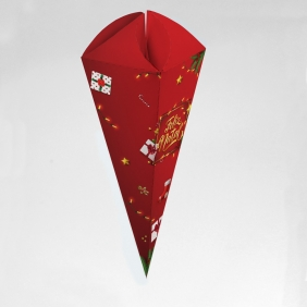 Caixa para Cone Trufado - Natal Iluminado c/ 100 un