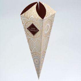 Caixa para Cone Trufado Pattern Marrom c/100 un