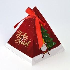 Caixa Pirâmide - Natal Divertido c/10 un