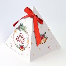 Caixa Pirâmide - Natal Estrela c/10 un
