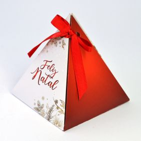 Caixa Pirâmide - Natal Luz c/10 un