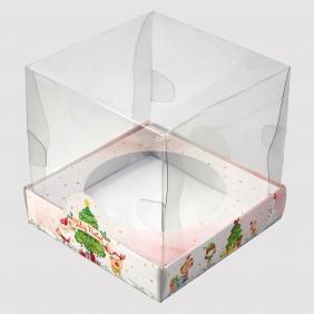 Caixa Premium p/ Panetone 500g - Natal Alegre c/10un