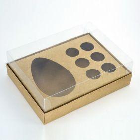 Caixa Premium para Ovo de Colher + Brigadeiro - KRAFT c/ 10 un
