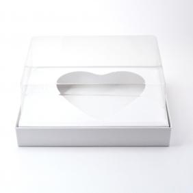 Caixa Premium para Ovo de Colher Coração c/Tampa - Branca C/10 un