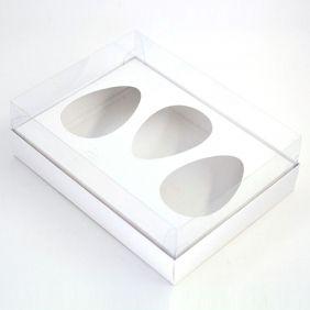 Caixa Premium TRIO para Ovo de Colher - Branca c/ 10 un