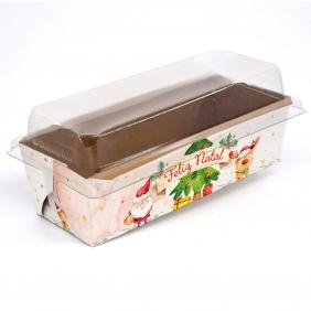 Forma para bolo inglês G c/ tampa - Natal Alegre c/ 100 un