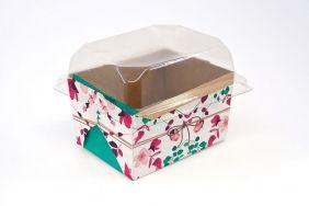 Forma para bolo inglês P Presente Floral c/ 100 un