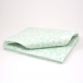 Papel Duofresh® para Embrulho P - Floral Verde C/100 un