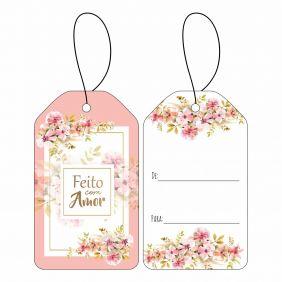 Tag - Floral Rose C/10 UN