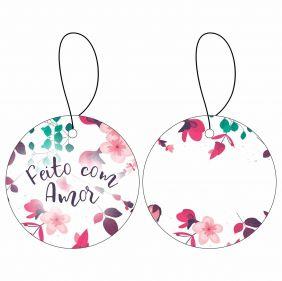 Tag - Presente Floral REDONDO C/10 UN