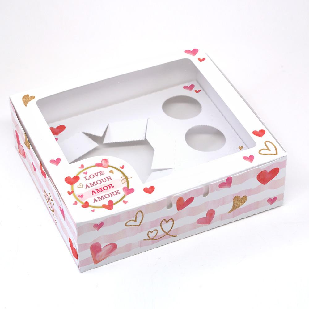 Caixa Coração Lapidado + 3 Brig - Amore C/ 10UN