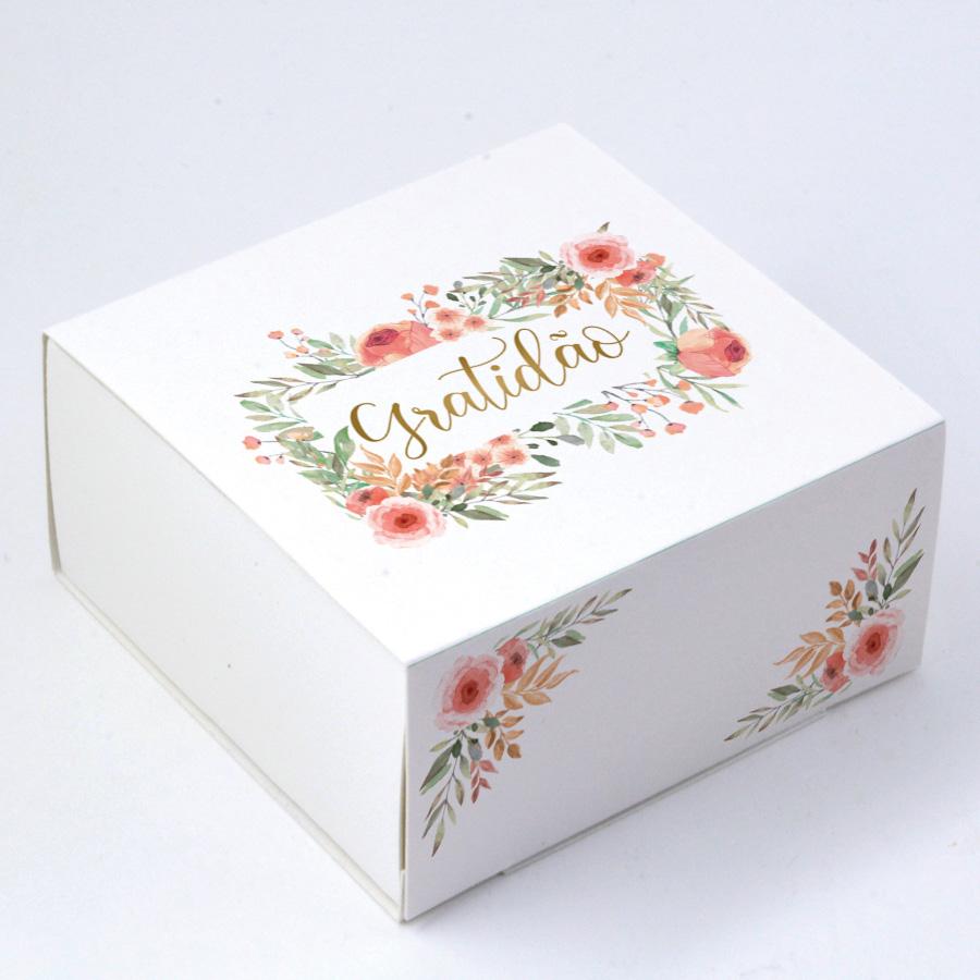 Caixa Deslizante para 4 doces - Gratidão C/10un