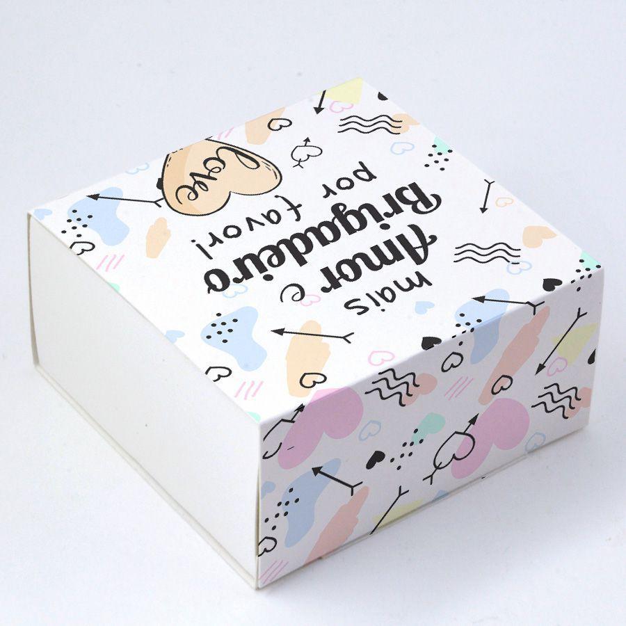 Caixa Deslizante para 4 doces - Mais Amor e Brigadeiro c/10 un