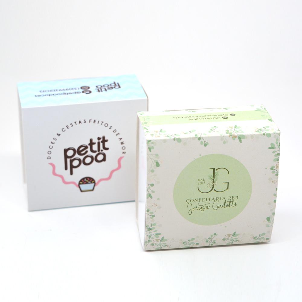 Caixa deslizante para 4 doces Personalizadas