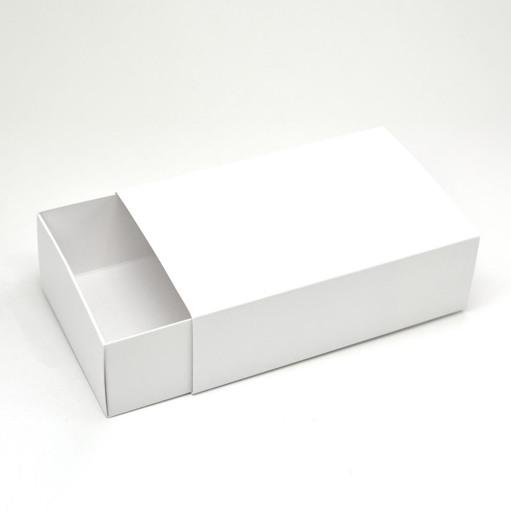 Caixa deslizante para 6 doces - Branca c/ 10 un